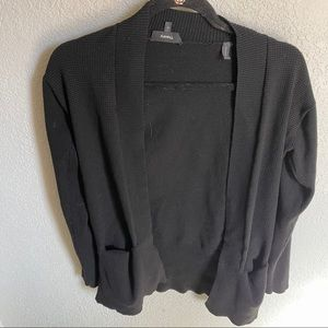 Theory Waffle Knit Open Cardigan With Pockets